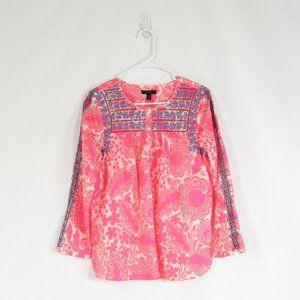 Salmon pink ivory J. CREW blouse 6